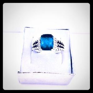 David Yurman 8 Petite Wheaton Blue Hampton Ring